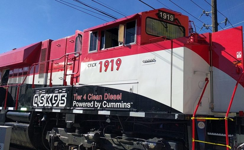 CUMMINS QSK95 LOCOMOTIVE delivers 201 kph