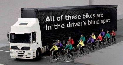 Motorists learn trucking blind spots