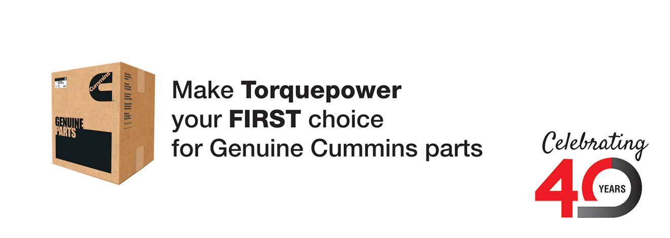 Make Torquepower your first choice for Cummins Parts ( cardboard box )