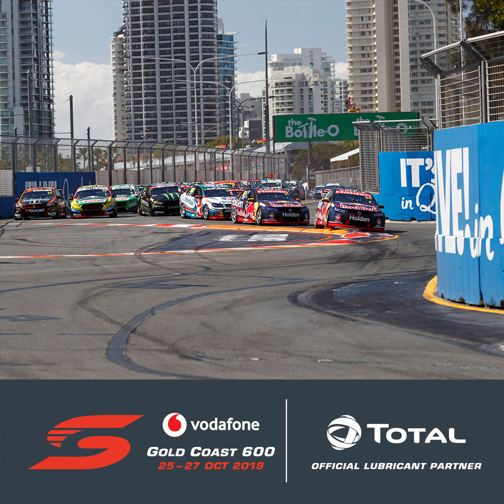 TOTAL Oils partners Vodafone Gold Coast 600